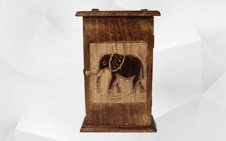 Mango Wood Key Cabinet